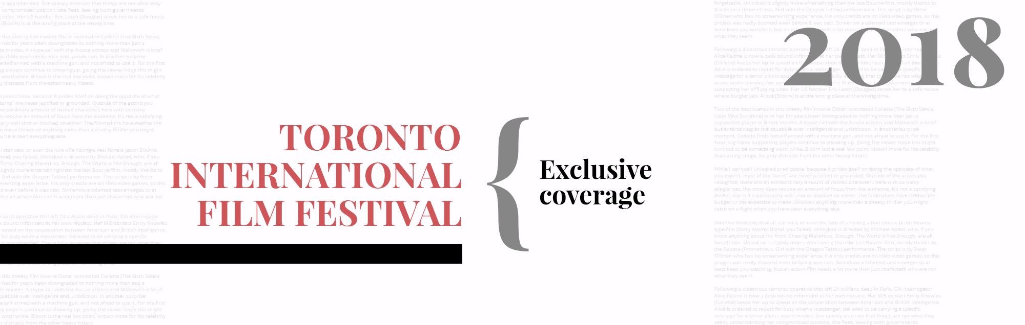 Toronto International Film Festival 2018
